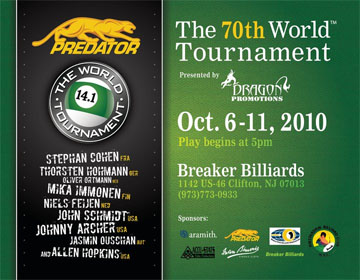 Predator World Tournament of 14.1