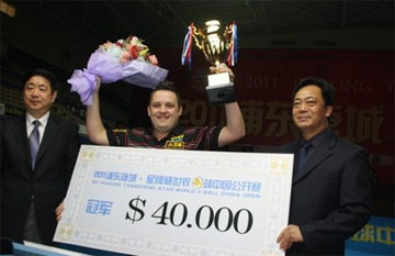 Крис Меллинг — победитель World 9-Ball China Open 2011
