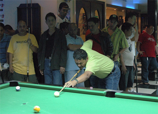 Efren Reyes at «One Side», World 9-Ball 2007, Manila, Philippines