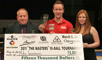 Мика Иммонен — победитель The Masters 10-Ball Tournament