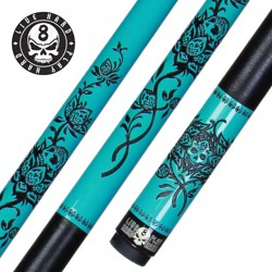 Кий для пула Players D-LRT Laser Etched Turquoise Rose